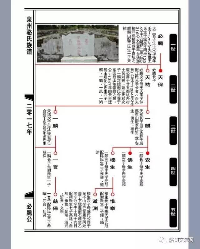 泉州骆氏族谱重修世代关系图实施方案图片