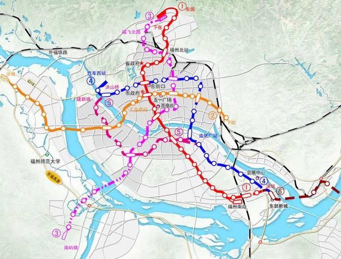 福州地铁3号线规划图,福州地铁3号线是唯一深入闽侯南屿的轨道线路