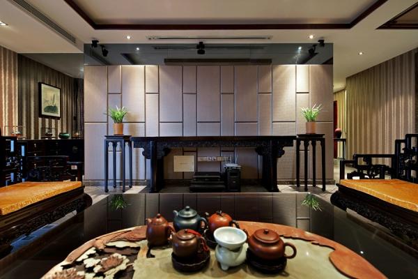 贵阳保利凤凰湾170平装修设计,大平层中式风格!图片