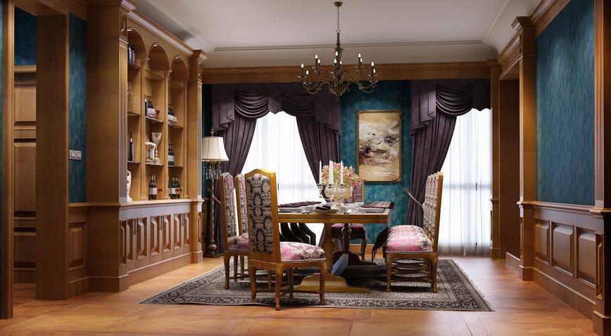 简单而刚挺,配合空间中同色系纹理拼花地板,仿若帕提农神庙般充满巍峨图片
