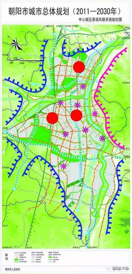 朝阳市2030年规划图曝光,些地方都有大动作 大量规划图