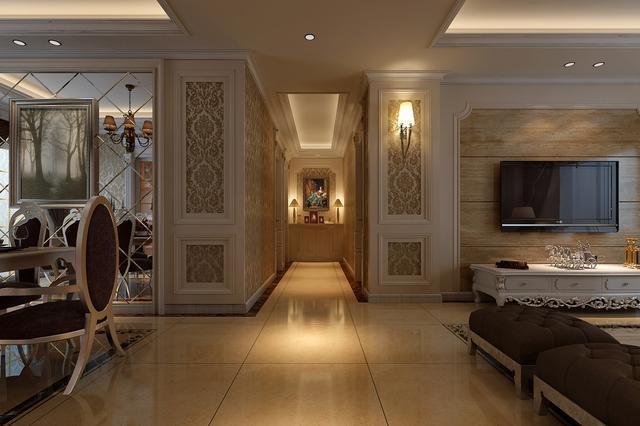 武汉两居室简欧风格装修效果图,安尔雅装饰!图片