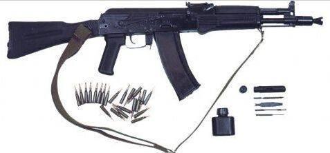 ak-104是ak-103的缩短版本,同样使用7.62 × 39毫米 m43型步枪弹.