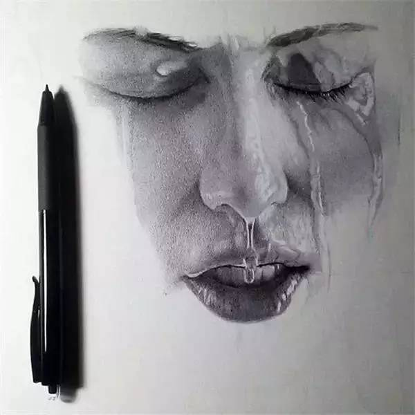 圆珠笔画水滴-这些 大片 是画出来的 别逗我了