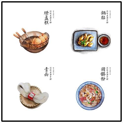 加非说,手绘温州小吃源于她吃货的本质.