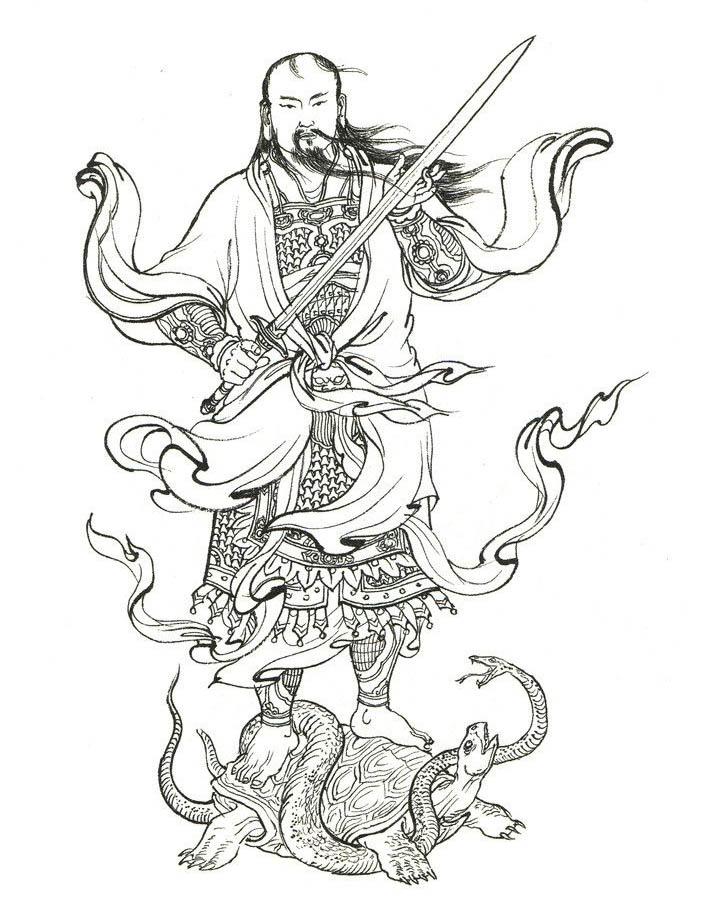 (图片来源于网络)   真武大帝又称玄天上帝、玄武大帝、佑圣真君玄天上帝、荡魔天尊、玉虚师相、九天荡魔祖师、无量祖师,全称真武荡魔大帝,是中国神话传说中的北方之神,为道教神仙中赫赫有名的玉京尊神.