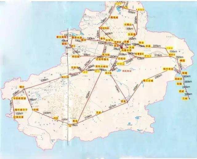 值得收藏的新疆旅游地图图片