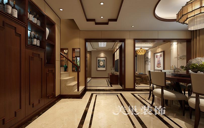 名门紫园320平新中式装修方案 满足老和少都喜欢图片