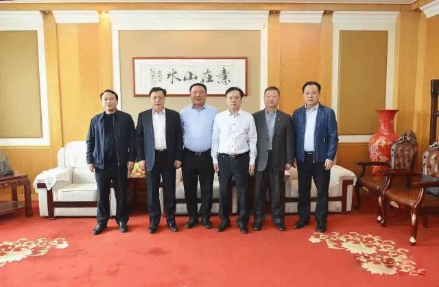 亚泰集团陈亚春与辽宁协会会长王又春一行到访山水集团
