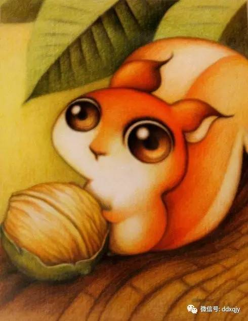 超可爱萌萌的动物彩铅画!