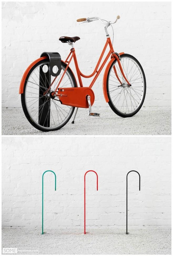如果自行车停车位设计成这样,我每天都要骑车飞行