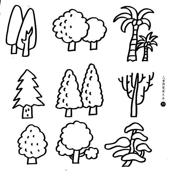 适合2 6岁儿童的100副幼儿简笔画