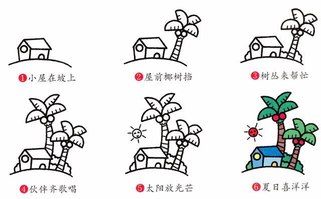 儿童简笔画 画一个春夏秋冬,让孩子感受四季变化图片