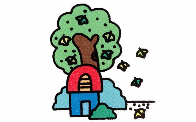儿童简笔画 画一个春夏秋冬,让孩子感受四季变化