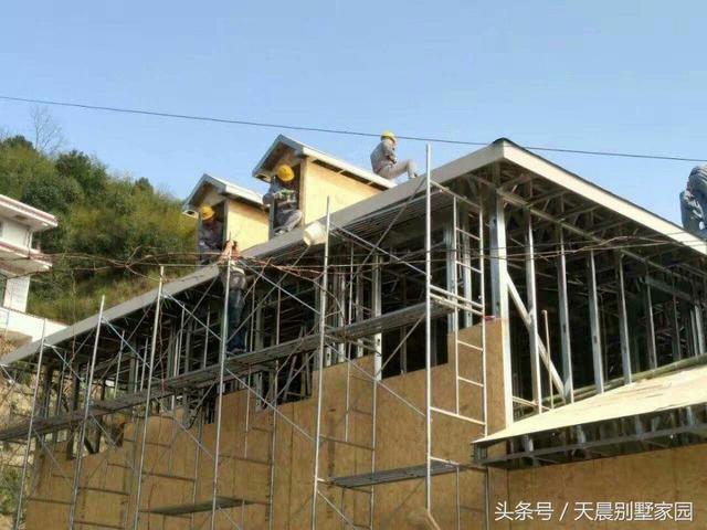 轻钢结构怎么建房?实拍农村自建二层别墅!