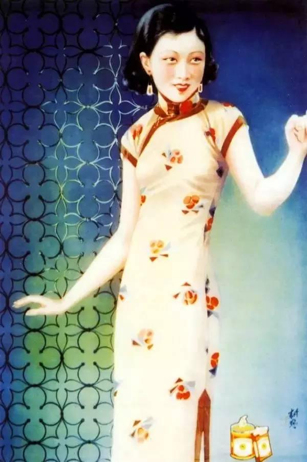 民国香烟广告上的美女绘画,美极了