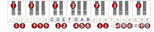 c大调音阶 钢琴简谱表 略. c#,db大调音阶 钢琴简谱表