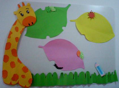 儿童手指贴画-幼儿园手工类环境创设,有创意哦