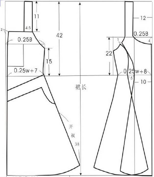 11款裙子的结构制图参考