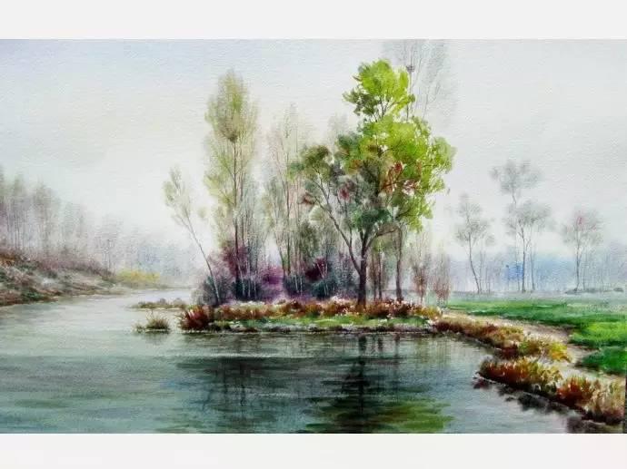 风景水彩画速写作品欣赏