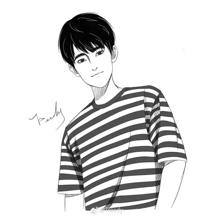 杨洋卡通手绘