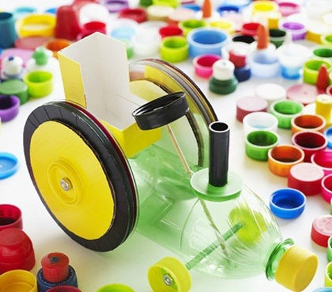 幼儿园瓶盖创意手工制作