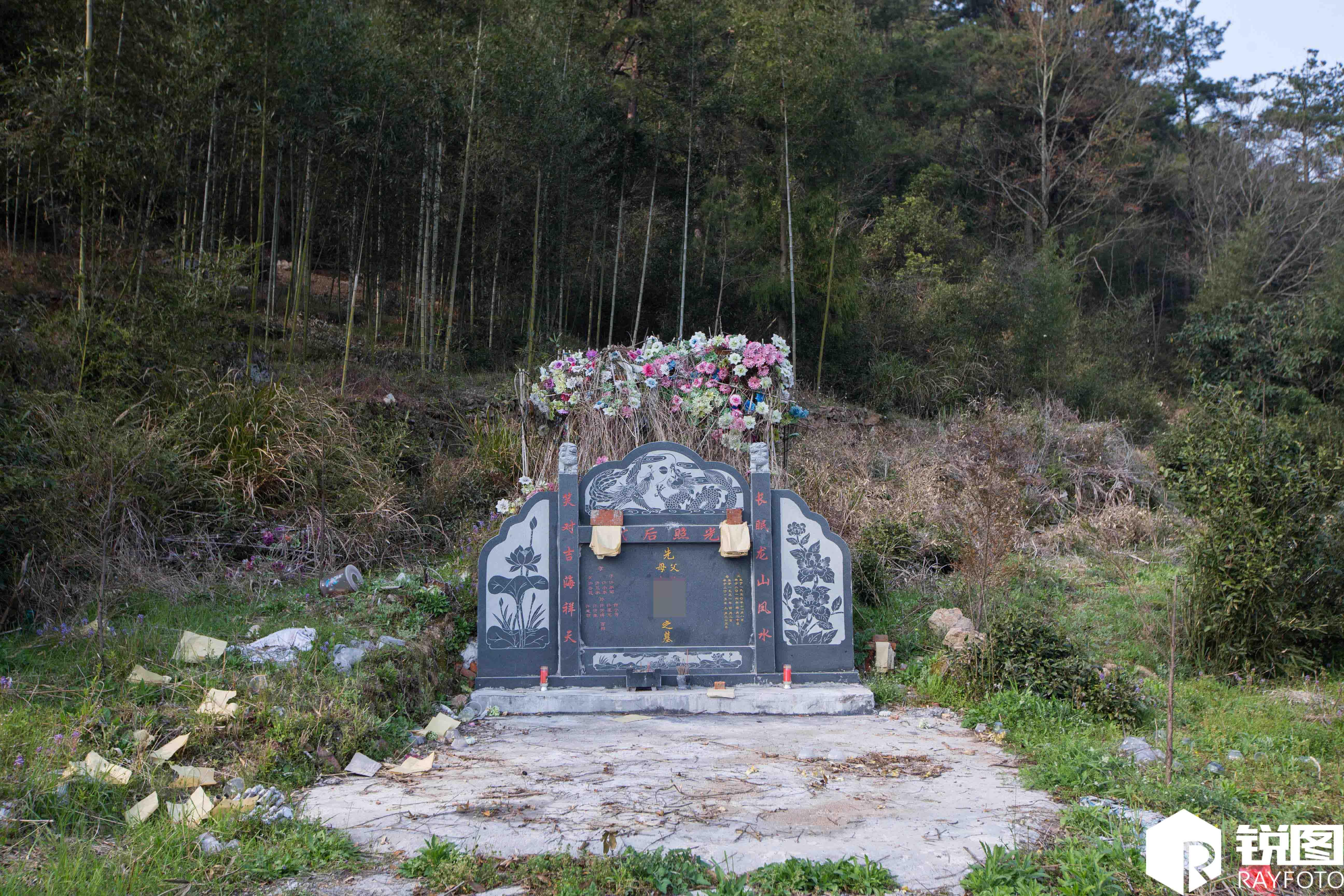 农村坟墓差距大:有的荒草丛生连墓碑也没有图片