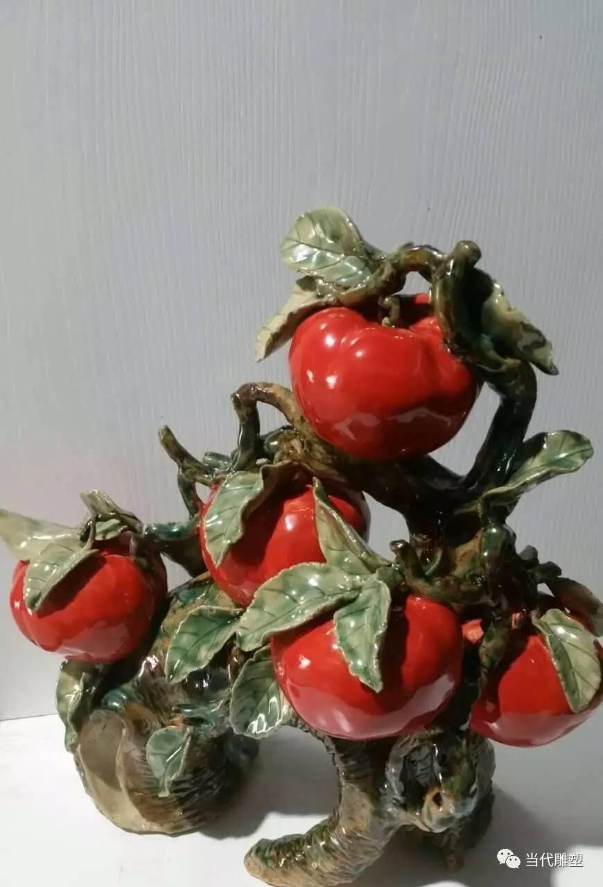 红番茄西红柿陶瓷雕塑