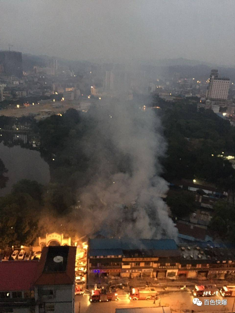 百色花鸟市场发生严重火灾  原因疑似......