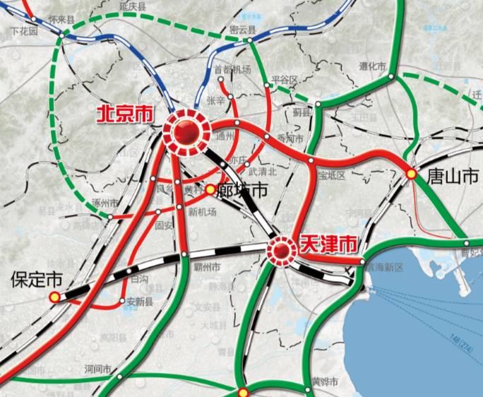 雄安交通规划图