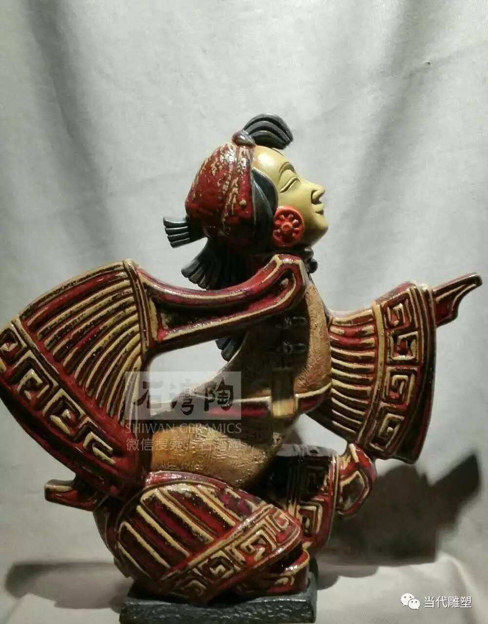 驴皮影陶瓷雕塑