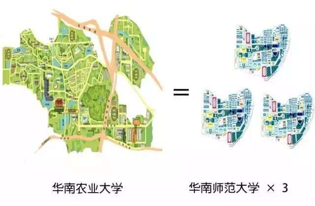 注:华农地图仅为五山主校区,华师地图仅为石牌桥校区-这所大学真图片