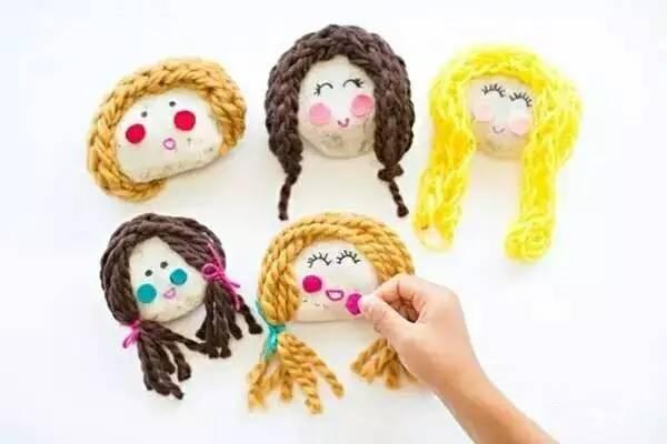 幼儿园毛线手工,材料简单,创意无限!