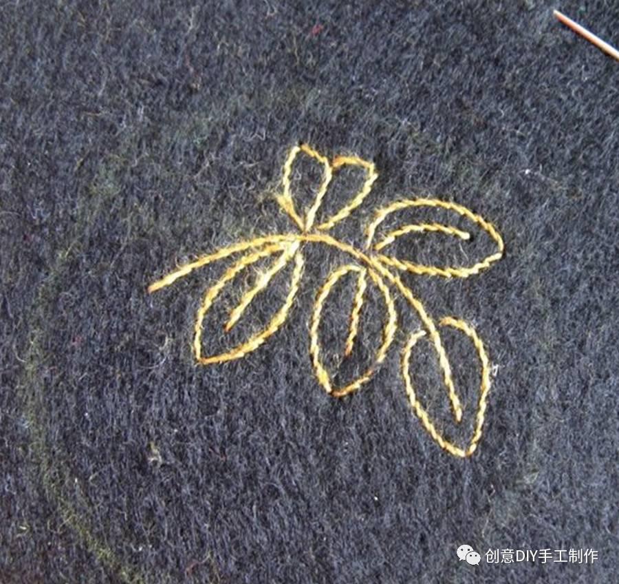 刺绣|不织布绣花浆果胸针diy手工刺绣教程图片