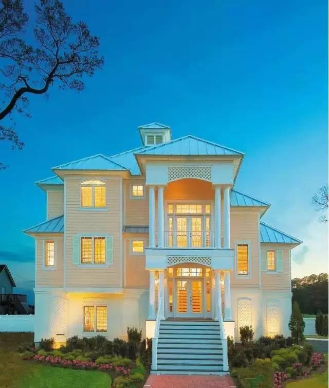 农村自建美式风格轻钢别墅图片
