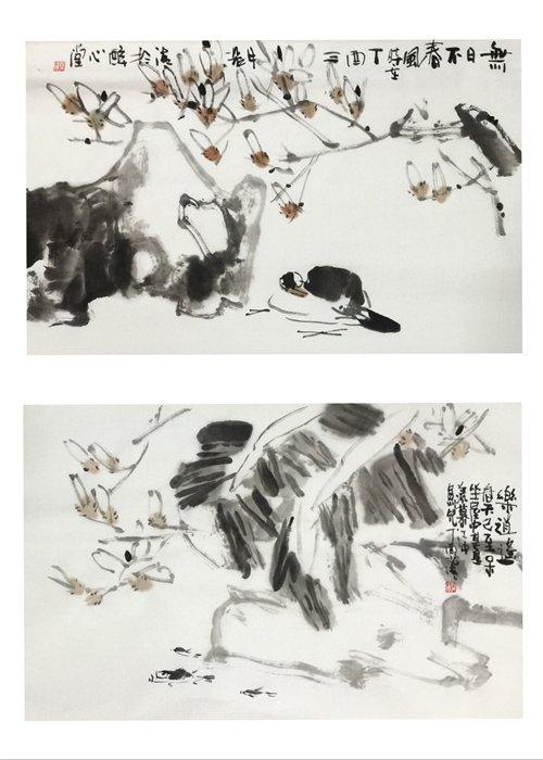 清华大学中国画研修班潜修学习,得到了书画家霍春阳,史国良,梅墨生图片