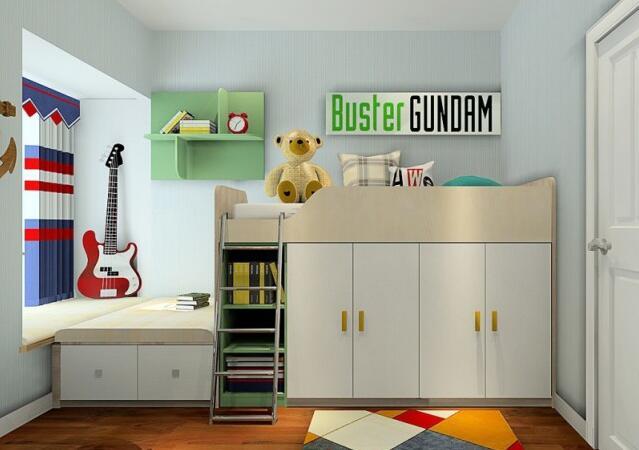 一柜到顶的设计大大提升收纳,圆弧柜的设计便于放取随身包包之类的物