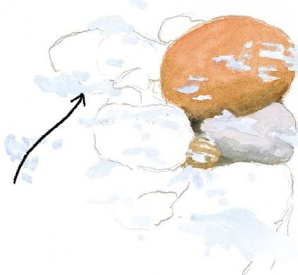 钢笔水彩画技法图片