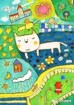 幼儿园蜡笔画教学示范画,瞬间文艺了! |一杰分享