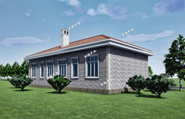 平房5间设计图-平房设计图及效果图室内设计-农村5间瓦房设计图大全图片