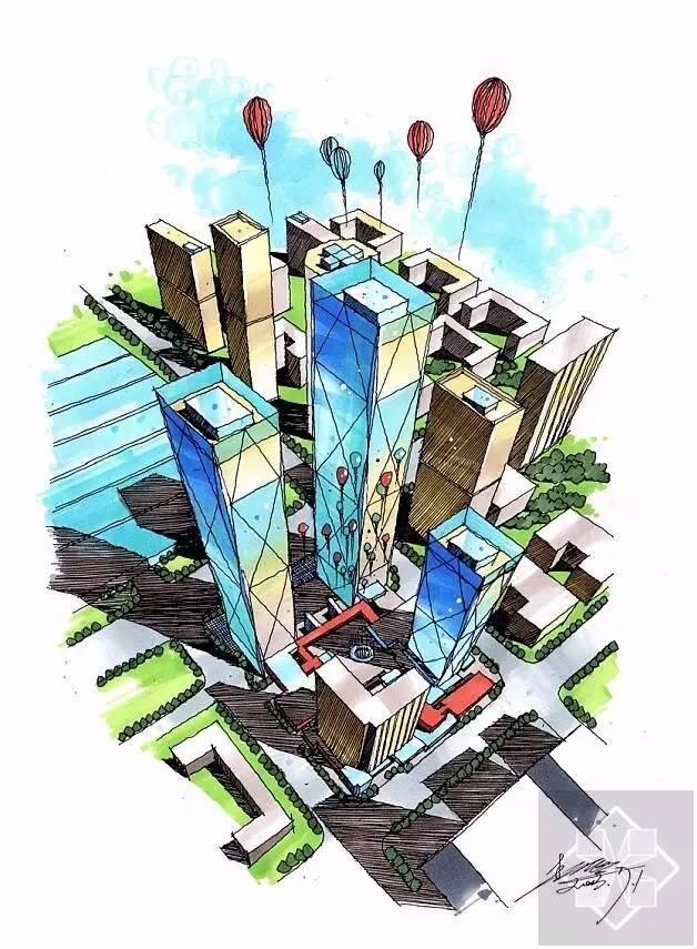 建筑手绘临摹这几张就足够了!