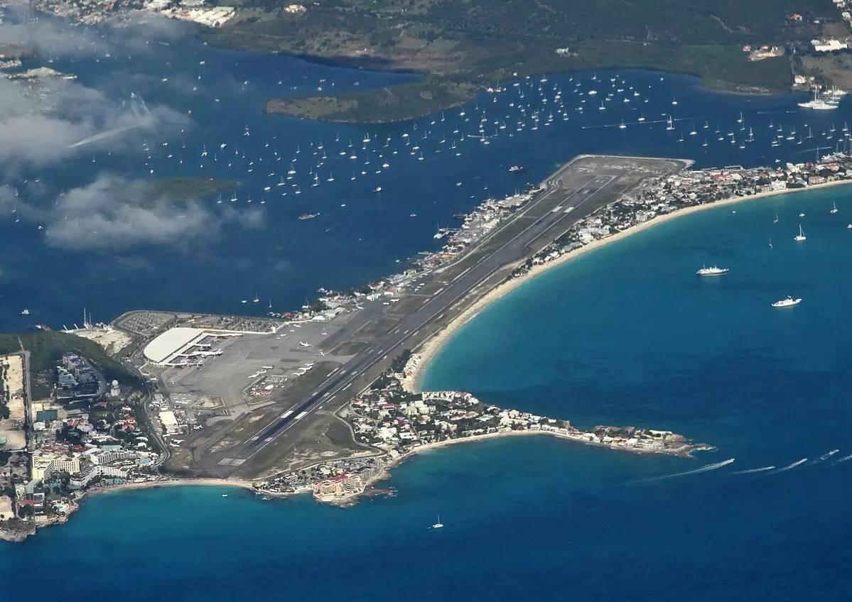Image result for princess juliana international airport aerial view
