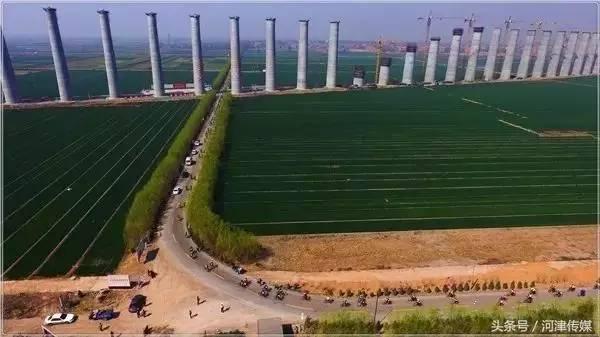 河津蒙华铁路最新进展航拍 快来看图片