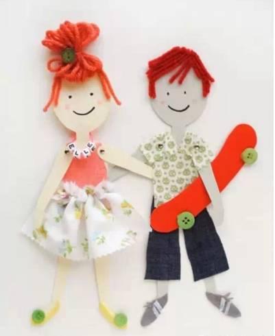 可爱的摇头娃娃但可小制作材料: 蛋壳,塑料盒,剪刀,铁丝,铅笔,胶带
