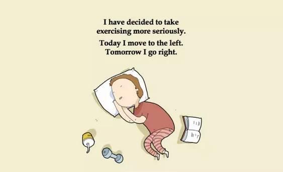 英文漫画 我对睡觉这件事,真的很在行
