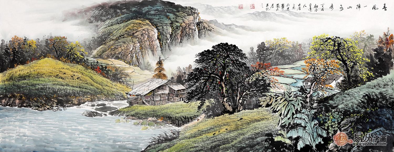 中国美协画家薛大庸山水画《春风一阵山水秀》图片