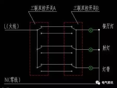 双控开关的种类及双控开关接线图图片