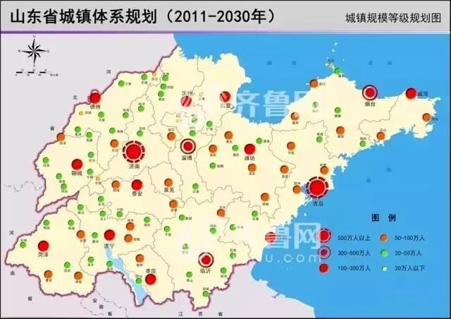 13年山东城镇规划,快看看海阳在哪级