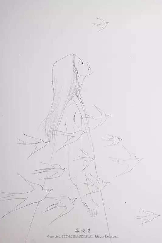 插画师 | 自由手绘插画师@李淡淡新作