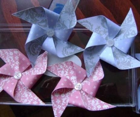 五瓣花朵折纸步骤图解